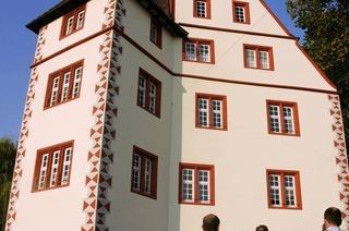 Die Quaderung schmückt das Schloss