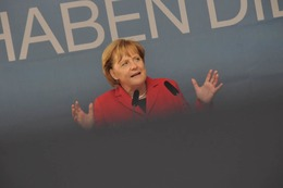 Fotos: Angela Merkel in Freiburg