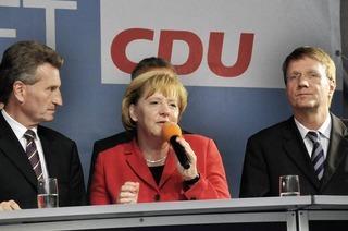 Gierige Banker mag Merkel nicht