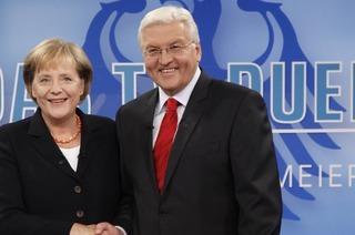 Analyse: Merkel und Steinmeier - mehr Duett als Duell