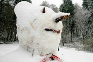 Neue Mode für den Schneemann