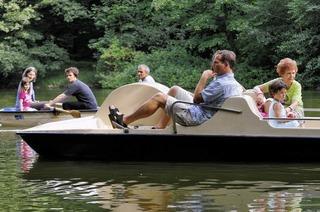 Bootfahren auf dem Waldsee