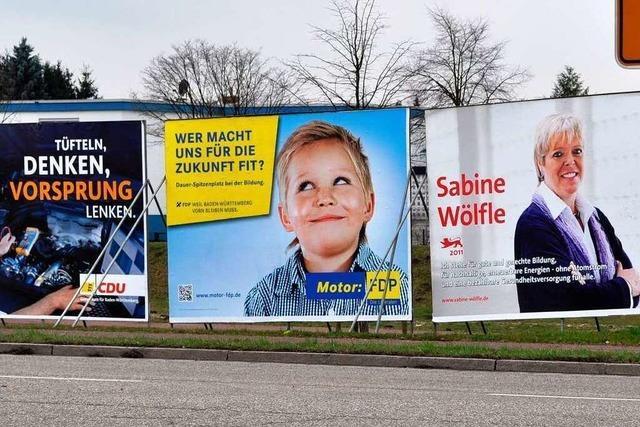 Wahlkampf mit Plakaten – ein Bilderstreit am Straßenrand