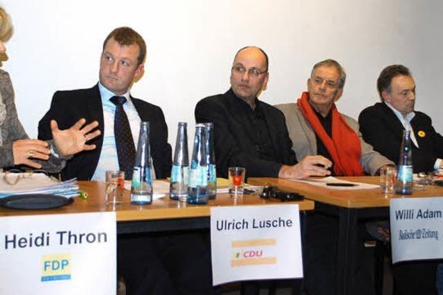 Kandidaten diskutieren über Atom- und Bildungspolitik