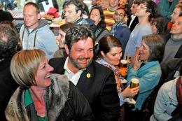 Fotos: Die Wahlparty der Grünen in Freiburg