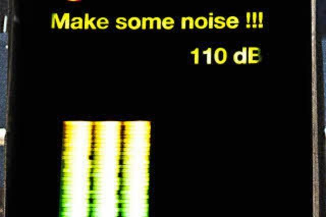 Applausometer: Aufforderung zum Lärmen
