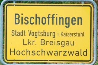 Warum heißt Bischoffingen Bischoffingen?