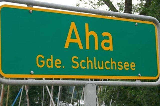 Warum heißt Aha Aha?