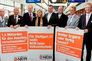 Befürworter von S 21 starten ihre Kampagne zur Volksabstimmung