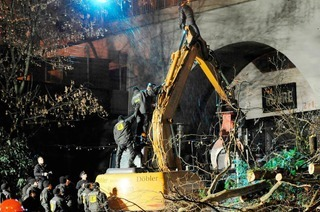 Für Stuttgart 21 werden wieder Bäume gefällt