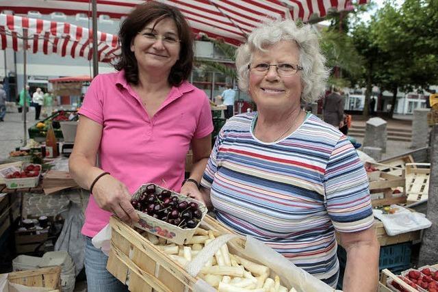 Marktfrau mit dem Herz auf dem rechten Fleck