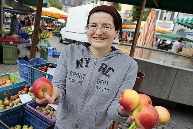 Bei Äpfeln weiß Elke Fleig Bescheid