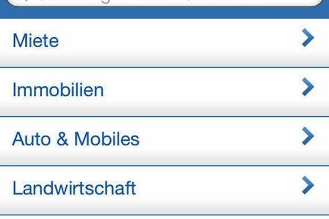 Mobile Kleinanzeigen auf dem Smartphone