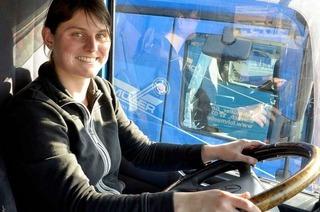 Kein Respekt vor 40-Tonnern: Lörracherin wird Lkw-Fahrerin