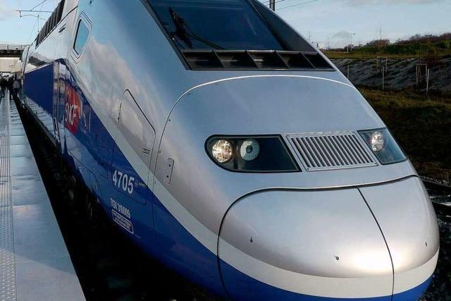 Der TGV ist da – Einfahrt nach Freiburg