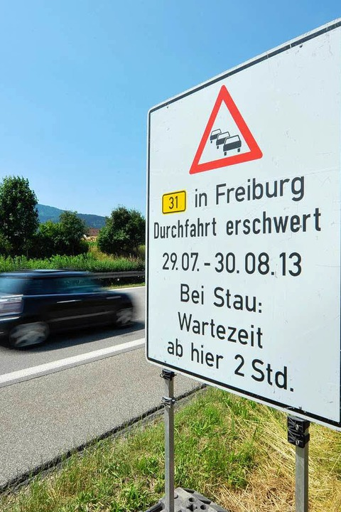 Baustelle in Freiburg: Pendler haben Bammel vor dem großen B31-Stau - Badische Zeitung TICKET