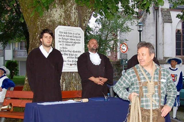 Gerichtslinde in Schönau: Vorhof zum Jüngsten Gericht