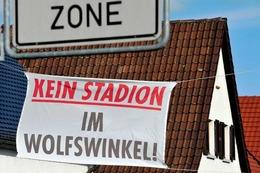 Fotos: Protest gegen das geplante SC-Stadion im Wolfswinkel