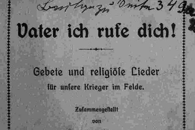 Heiliger Krieg: Freiburger Historiker veröffentlichen Tagebuch eines Feldgeistlichen