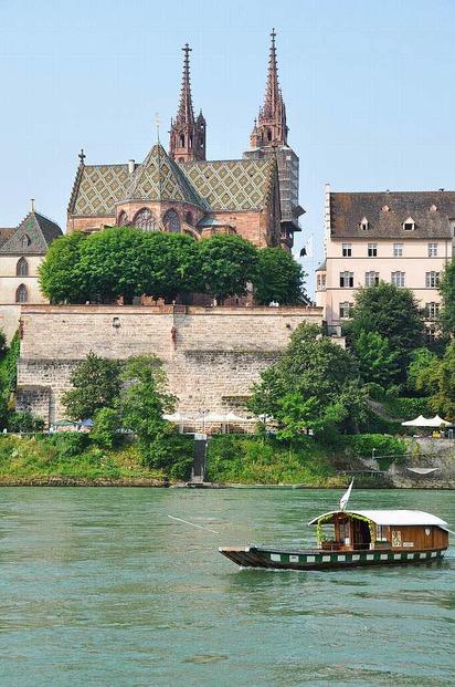 Auf der M�nsterf�hre - Basel