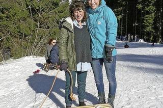 Mit Gili in ihren ersten Schnee