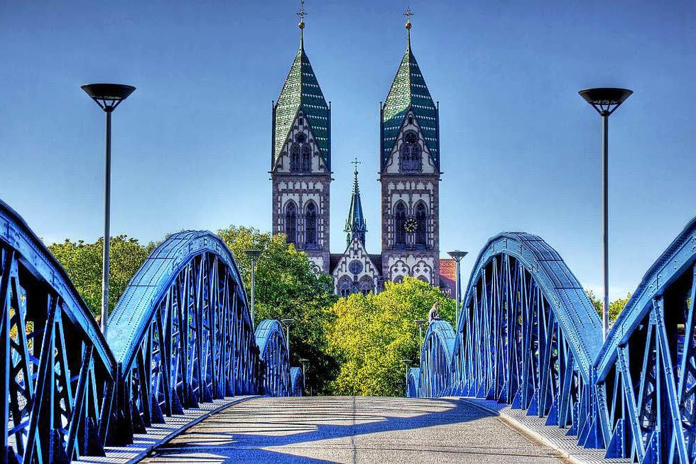 Blaue Brücke (Wiwili-Brücke) - Freiburg