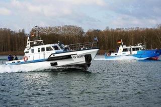 Wasserschutzpolizei im Hafen