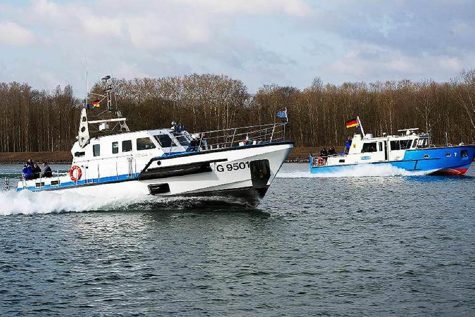Wasserschutzpolizei im Hafen - Kehl