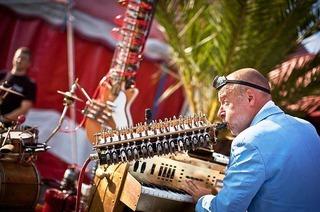 Zelt-Musik-Festival Open-Air-Bühne