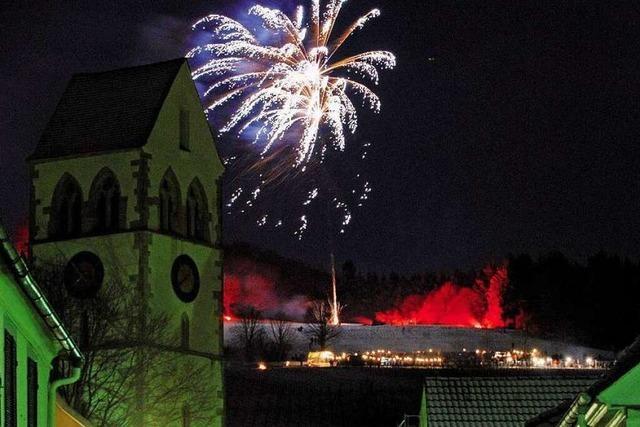 Weinberg in Flammen in Britzingen