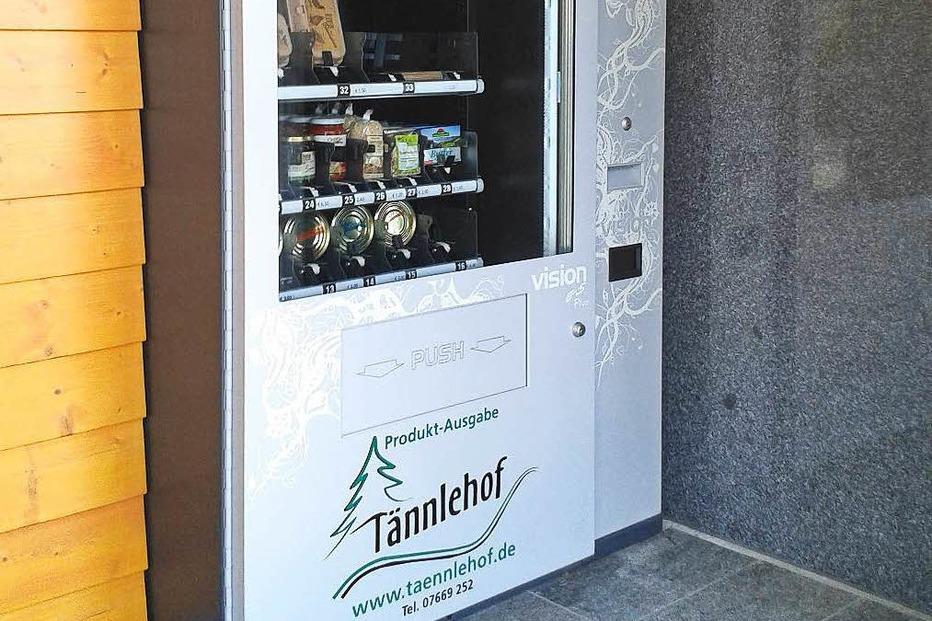 Selbstbedienungsautomat T�nnlehof - St. M�rgen