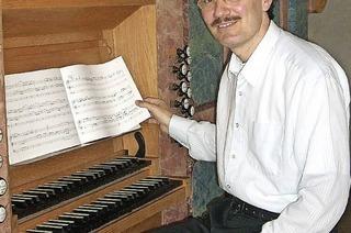"""Organist Dieter L�mmlin in der Reihe """"Musik zur Marktzeit"""""""