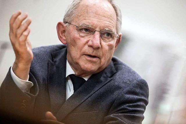 Schäuble zum Wahlkampf: