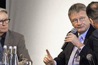 Der AfD-Spitzenkandidat Jörg Meuthen gibt sich im BZ-Dialog unpolemisch