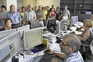 BZ-Leser besichtigen die neue BZ-Redaktion am Martinstor