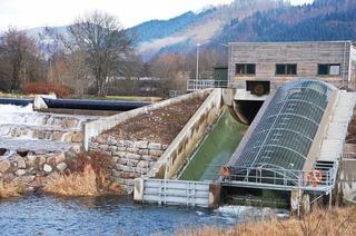 Wasserkraftwerk an der Wiese