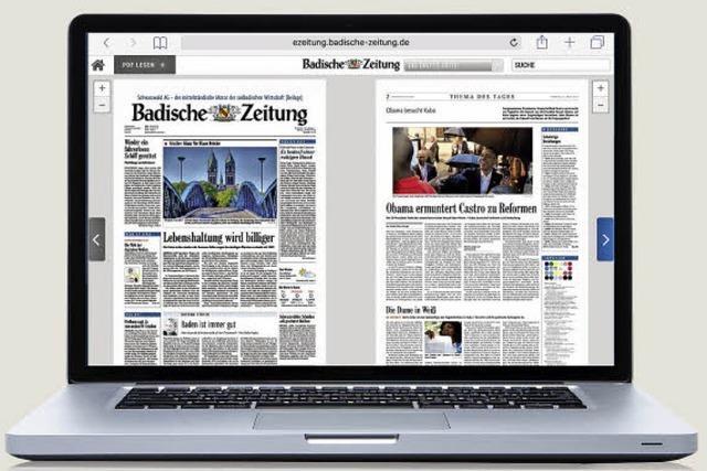 BZeZeitung: Das Blatt auf dem Computer lesen