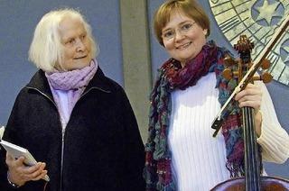 Rose Ausl�nder: Schreiben ist Leben - �berleben. Referentin: Helle Trede. Improvisationen: Ingrid Harrmann, Cello. In Hinterzarten.