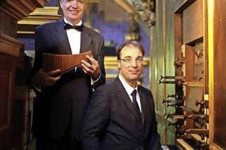 Philippe Emmanuel Haas (Panflöte) und Emmanuel Schublin (Orgel) in der Kirche Rötteln