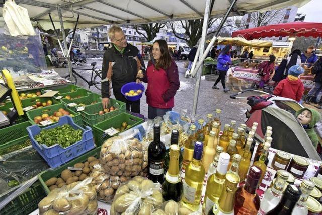 Auf dem Bauernmarkt in Vauban gibt es alles für den Alltag