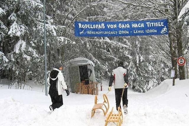 Rodelbahn Saig - Titisee