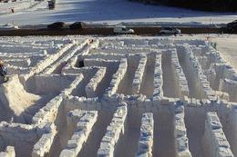 Fotos: Hier entsteht das Schneelabyrinth in Bernau