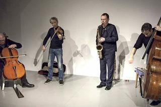 Das Trio Kimmig-Studer-Zimmerlin mit John Butcher in der Elisabeth-Schneider-Stiftung
