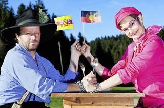 Badisch-Schwäbisches Kabarett mit Fidelius Waldvogel und Marlies Blume im Vorderhaus