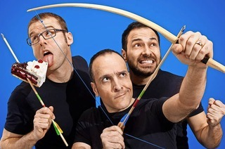"""Comedy-Trio mit der neuen Show """"Das fette Stück fliegt wie 'ne Eins"""" im Gloria-Theater Bad Säckingen"""