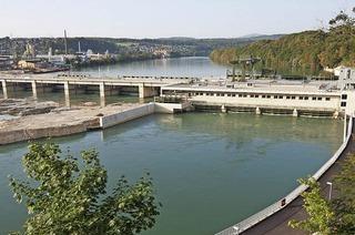 Einblicke ins Maschinenhaus des Wasserkraftwerks Rheinfelden