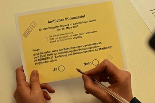 Lahrer stimmen über Bebauung am Altenberg ab