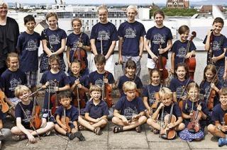 Kinderorchester Freiburg und Kinderorchester aus Aesch in Hinterzarten