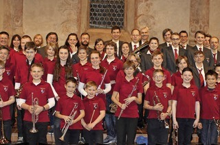 Musikverein und Musikzug aus Hohen Neuendorfzu Gast in Müllheim