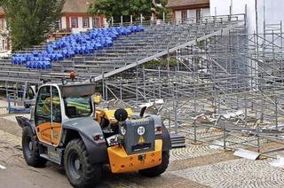 Bühne und Tribüne für die Domfestspiele sind bestellt